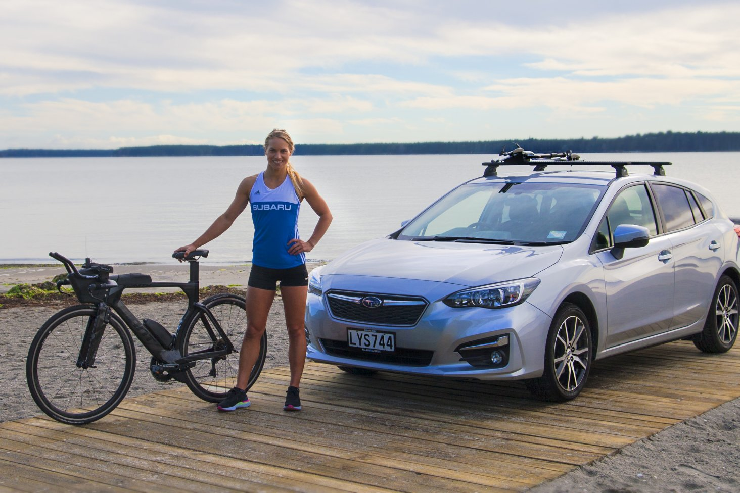Subaru of New Zealand is excited to announce the ultimate Kiwi adventure brand has partnered with professional triathlete and lifestyle/wellness ambassador Hannah Wells. PC: Paul Brunskill
