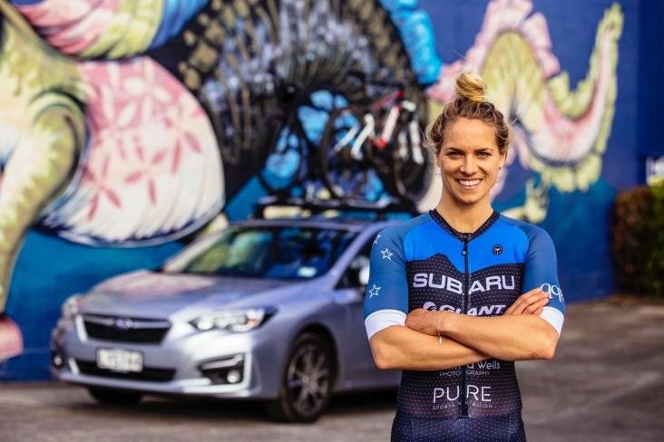 Professional triathlete Hannah Wells joined the Subaru family in 2019 and has continued her racing successes. Photo credit: Jemma Wells Photography