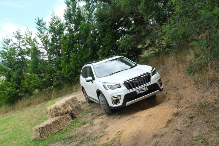 The SUV track was a popular new way to demonstrate Subaru's SUV models' off-road capabilities. PHOTO: GEOFF RIDDER.