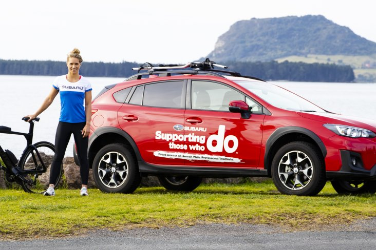 Hannah Wells and her Subaru XV