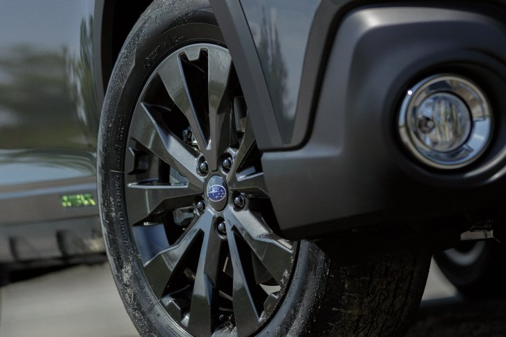 "The Subaru Outback X  looks sharp with black 18"" alloy wheels."