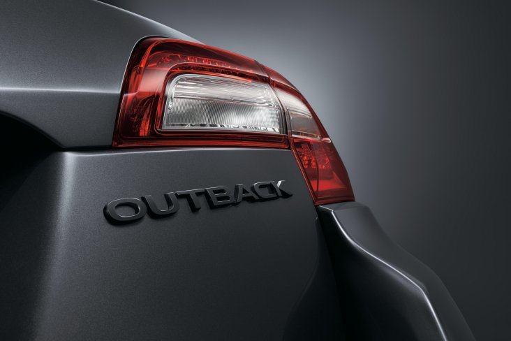 The Subaru Outback X has a black rear badging.