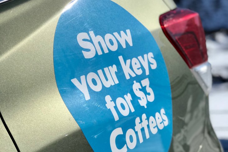 Subaru owners can get their discounted caffeine fix by showing their Subaru keys at Mt Ruapehu cafes to receive $3 coffees in the peak season between August 1st and September 30th, 2021.