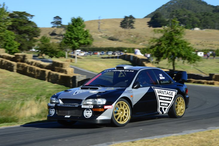 Subaru driver Alister McRae on his way to the fastest time of the first day at the Leadfoot Festival. PHOTO: GEOFF RIDDER.