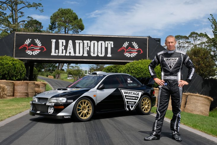 After his 2017 and 2018 Leadfoot Festival victories,  Alister McRae and the ex-Possum Bourne Vantage Subaru WRC rally car have entered the Ashley Forest Rallysprint. PHOTO: GEOFF RIDDER.