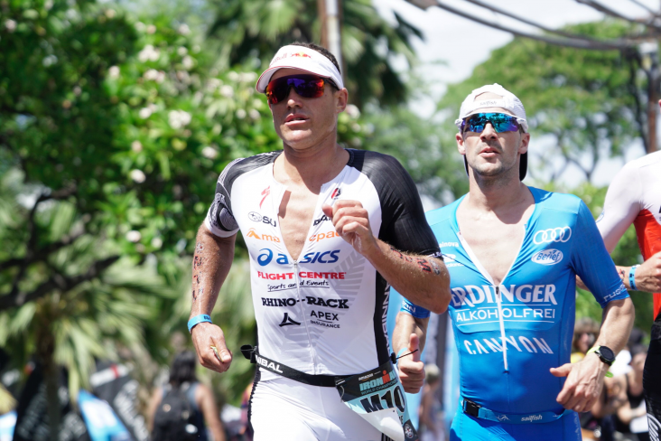 Braden Currie on the run course at the World Ironman Championships. PHOTO: SALLY CURRIE.