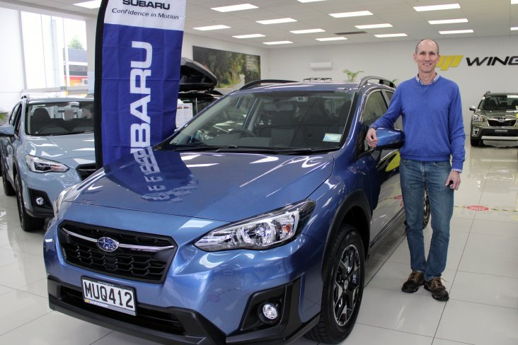 North Shore man Charles Oram was the winner of the Shimano/Subaru Last Wheel Rolling promotion and was presented with a Subaru XV Sport as his prize today.
