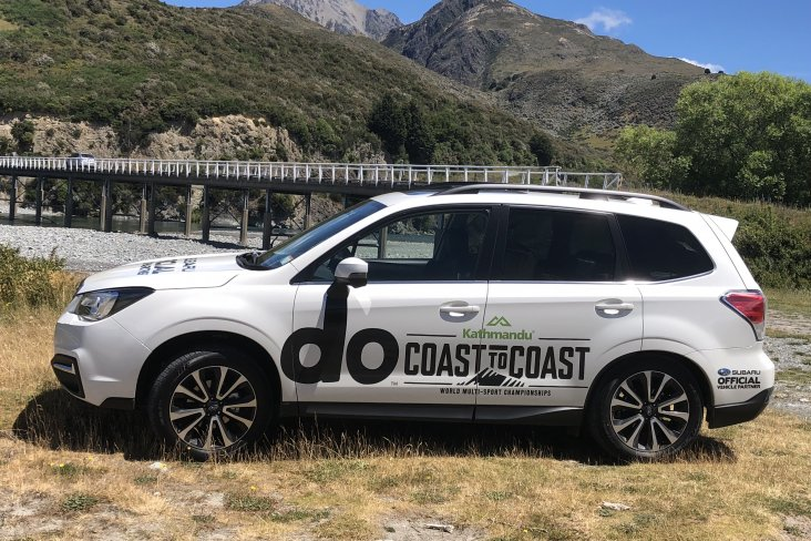 The branded Subaru SUV models will be on duty before and during the Coast to Coast.