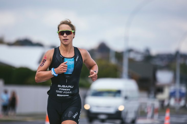 A strong run stage saw Hannah Wells eventually win the Nutri-Grain IRONMAN New Zealand  by nearly 14 minutes. PHOTO CREDIT: JEMMA WELLS.