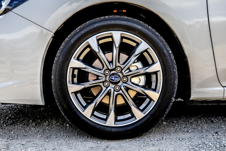 "The 2020 Subaru Impreza has smart new-design 17"" alloy wheels."