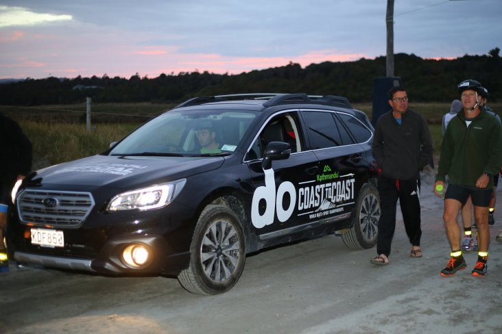 Subaru was the official vehicle supplier for the Kathmandu Coast to Coast and three 'do' branded SUVs were on duty on the West Coast to East Coast of the South Island course today and yesterday. PHOTO: KATHMANDU COAST TO COAST