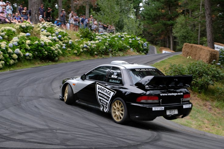 "He enjoyed winning the tarmac Leadfoot Festival but McRae  describes the ex-Possum Bourne WRC Subaru as ""amazing fun to drive on gravel"". PHOTO: GEOFF RIDDER."