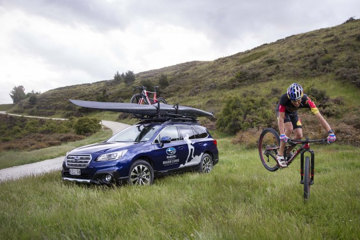 In New Zealand, Subaru brand ambassador Braden Currie drives a Subaru Outback as it suits his outdoor, adventurous lifestyle. PHOTO: VAUGHAN BROOKFIELD.