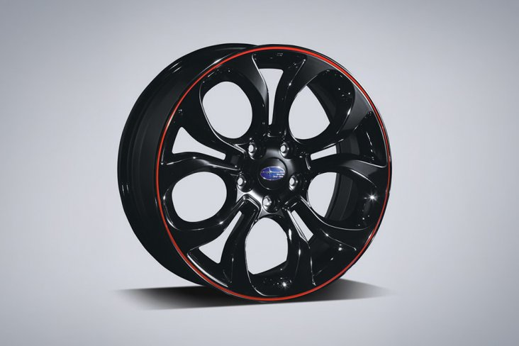 Alloy wheel set 18inch red
