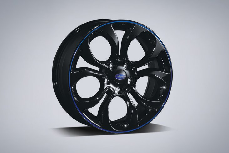 Alloy wheel set 18inch blue