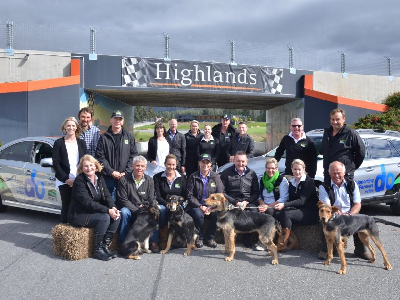 Subaru of New Zealand and Federated Farmers teams together at the Launch Partnership Day at Highlands Motorsport Park in Cromwell.