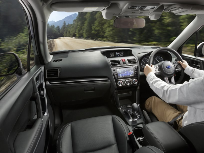 Forester interior driving