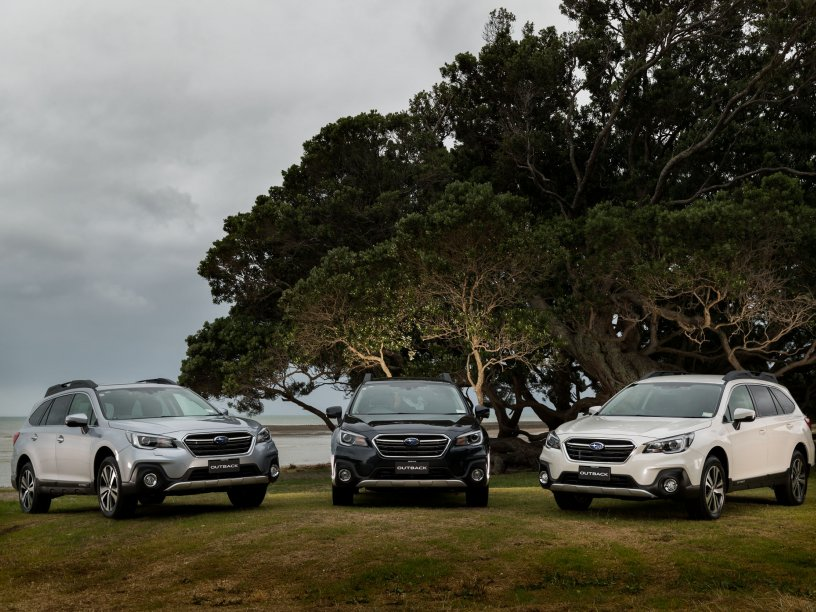 The 2018 Subaru Outback model range.