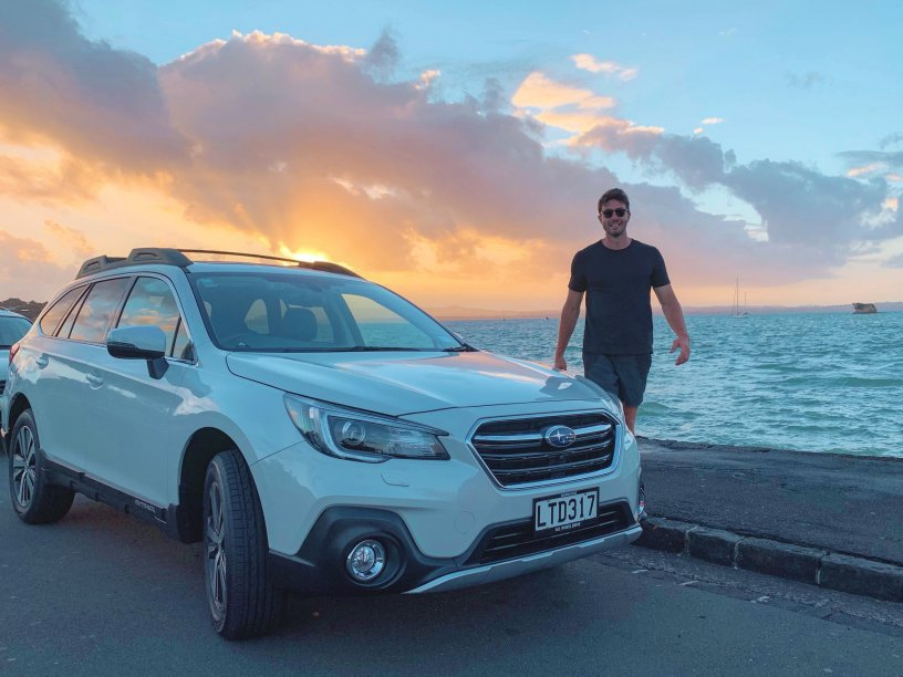 Art and his Outback at Sunset.