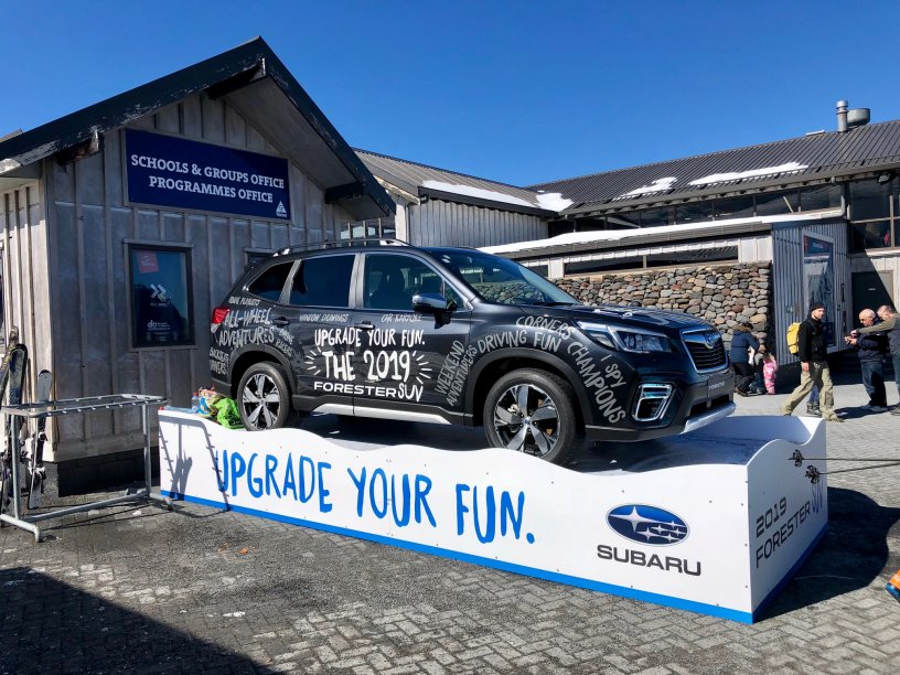 2019 Subaru Forester on display at Turoa Plaza 2018