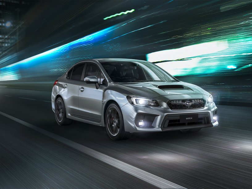 2016 WRX front 34 driving