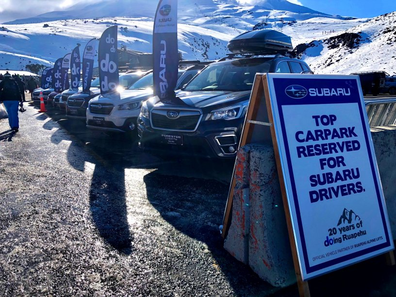 2018 Subaru Top Weekend cars on display