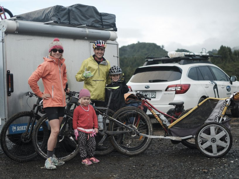 Braden Currie and his family on an adventure around the North Island. Kids Can Pack.