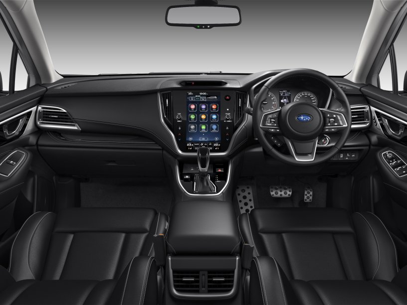 The 2021 Outback Touring interior