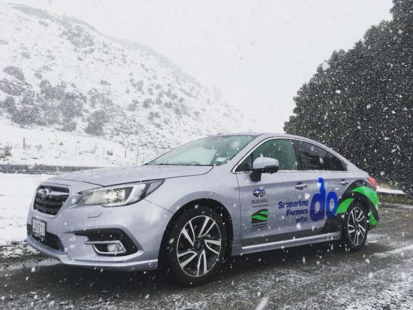 Federated Farmers car in the snow