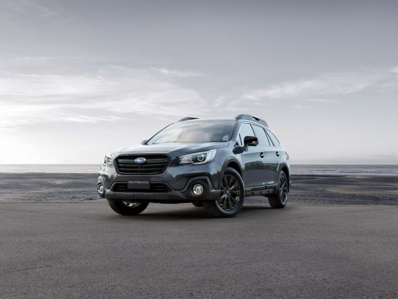 Outback X Front profile. Overseas model shown, black wheel arches not available on NZ spec Outback X.