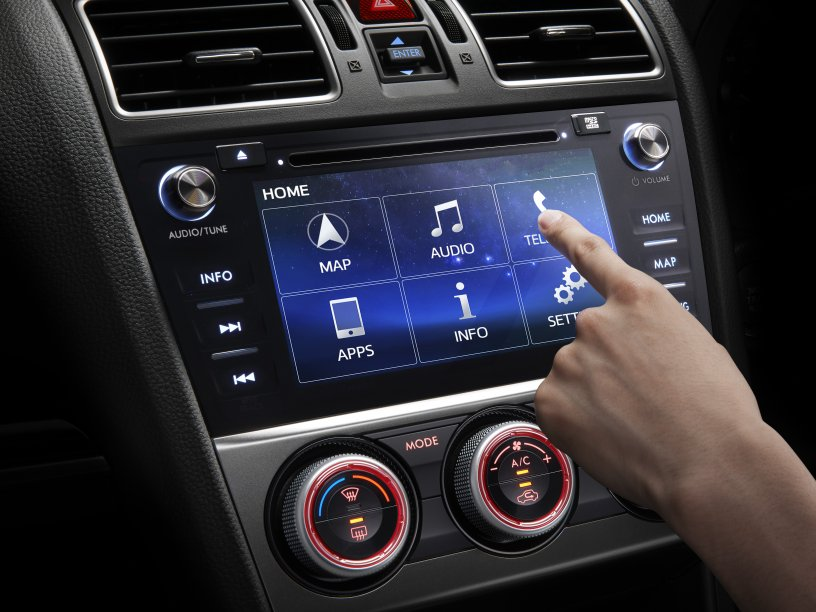 XV Crossover satellite navigation system