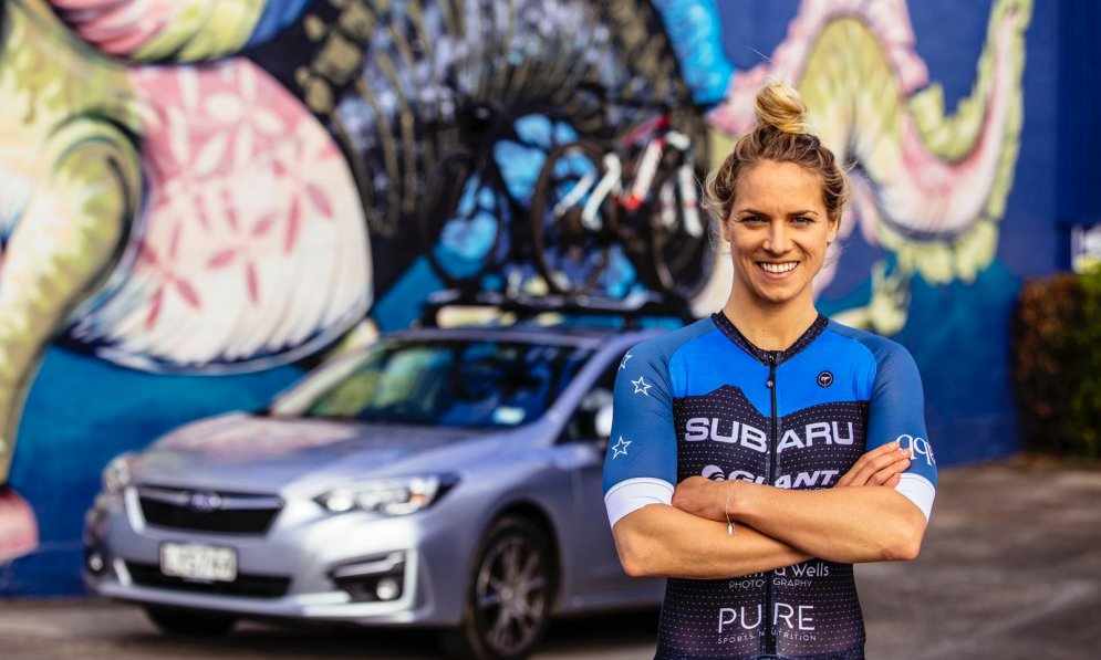 Hannah Wells is a professional triathlete and Subaru brand ambassador. PC Jemma Wells Photography
