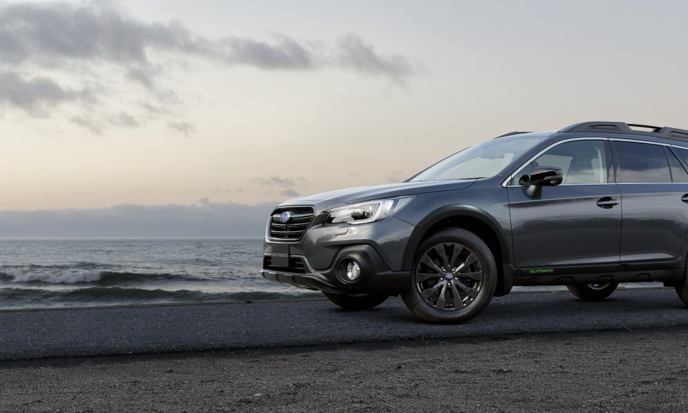 Outback X. Overseas model shown, black wheel arches not available on NZ spec Outback X.