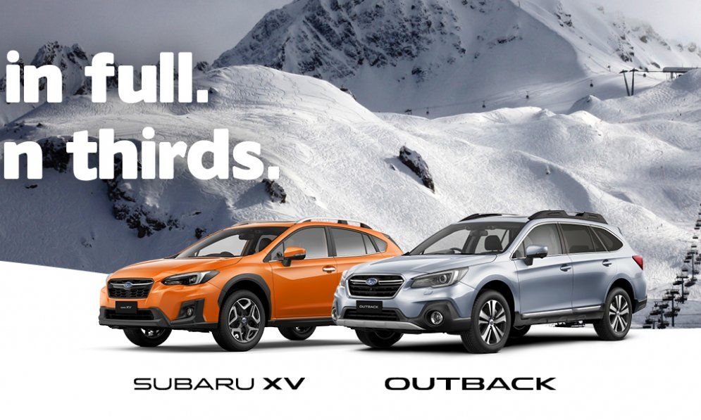 Outback And XV Retail Offer