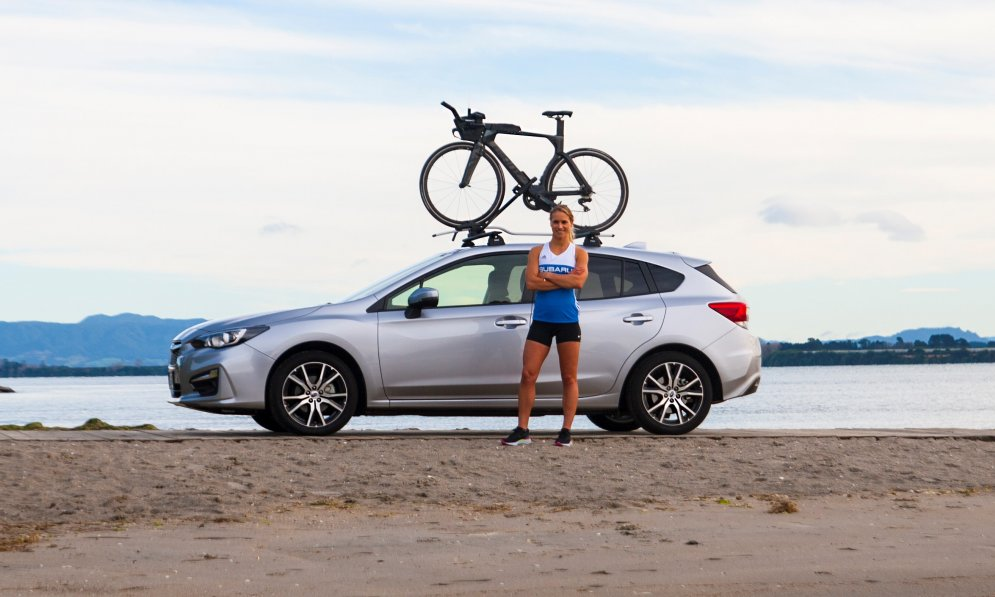 Subaru brand ambassador Hannah Wells trains 20-plus hours a week - travelling from her Tauranga hometown to race - and also fits in a four-days-a-week role as an engineering research fellow at Massey University.