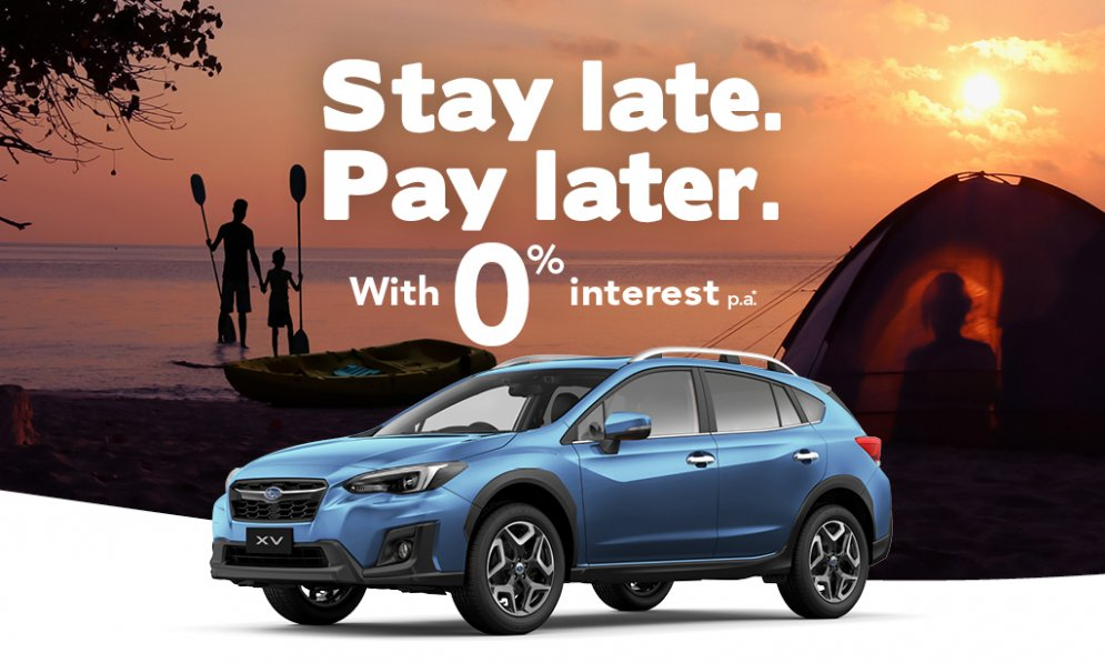 Subaru XV offer - pay in thirds