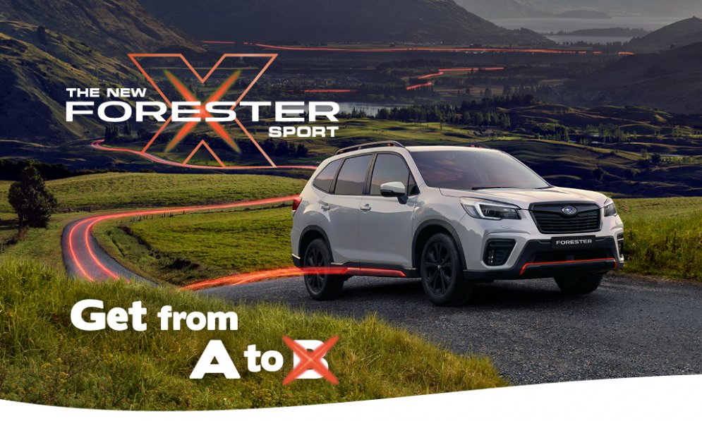 The new Forester X Sport takes you from A to X