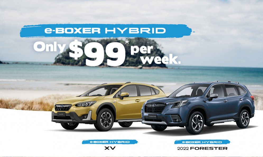Subaru e-Boxer Hybrids from only $99 per week