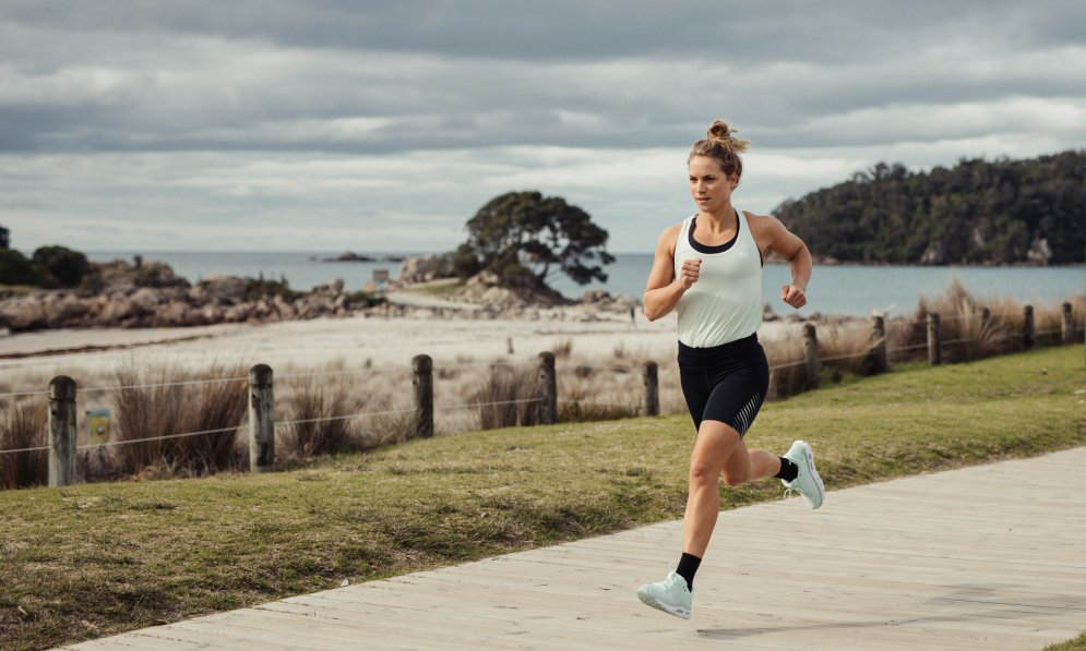 Hannah Wells knows the importance of taking care of yourself and staying active. Photo credit: Underarmour