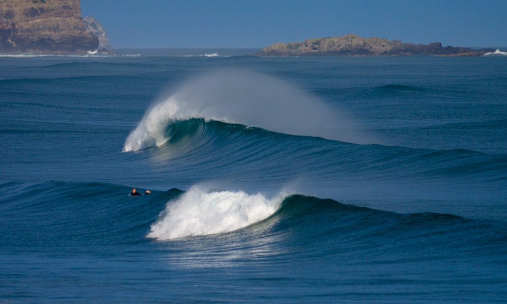 the south coast of the South Island is great for surfers.