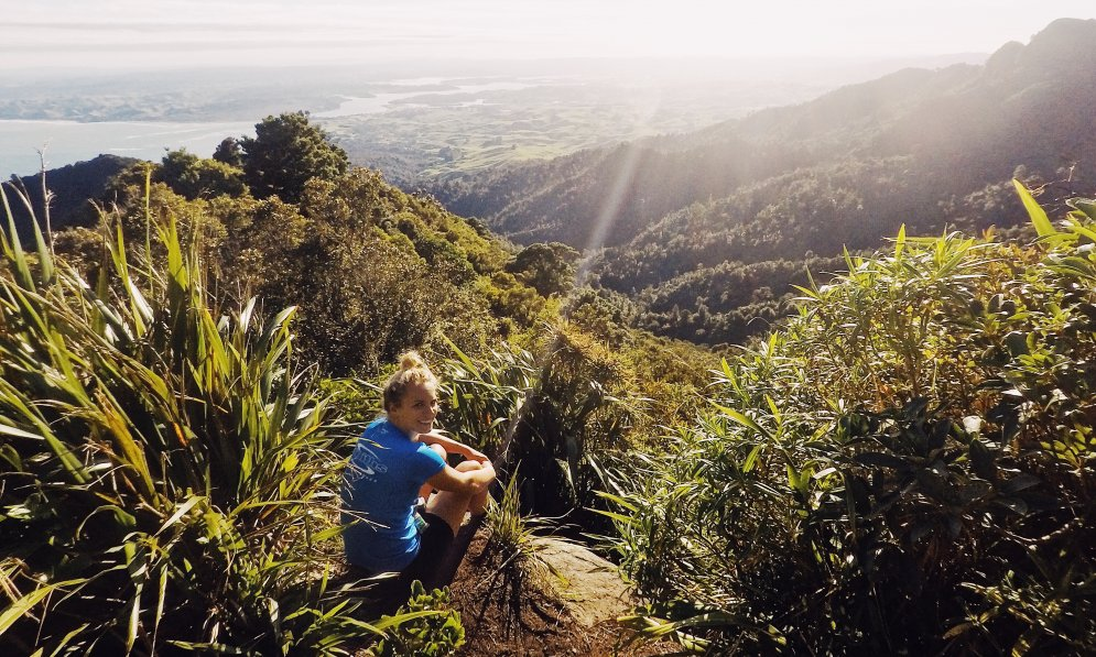 Hannah Wells taking time to relax in Raglan, health first and training second