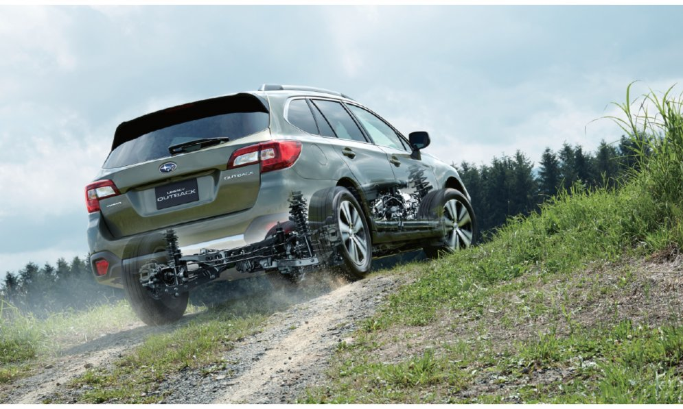 Subaru Outback has All Wheel Drive as standard like the whole Subaru SUV range.