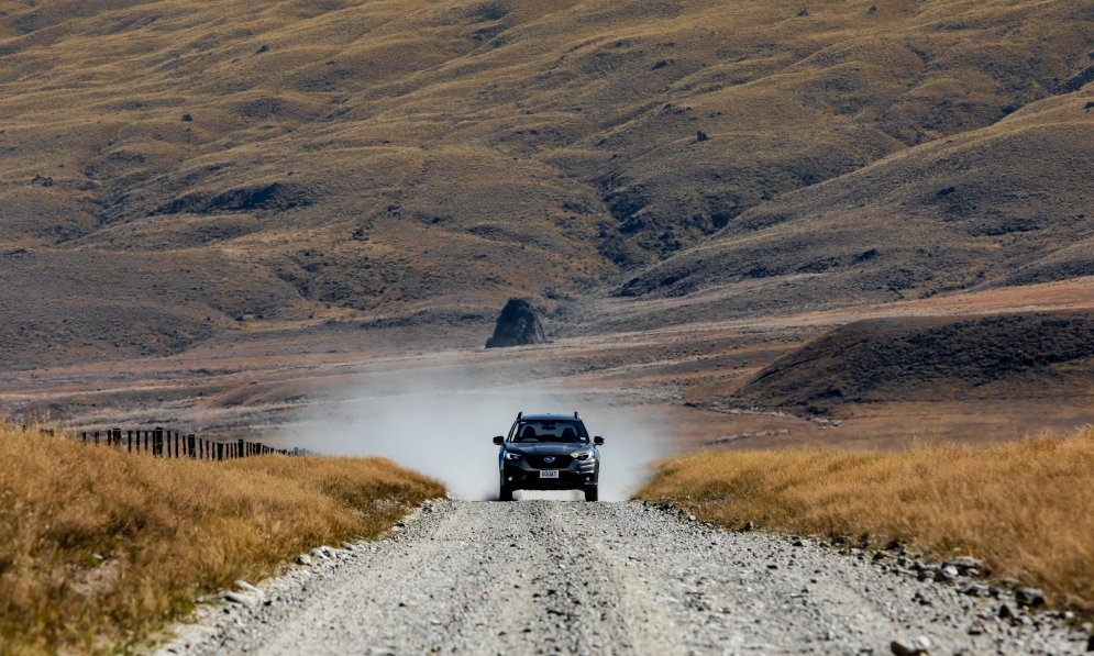 It can get dusty driving on gravel, so make sure you shut your windows and recirculate the air.