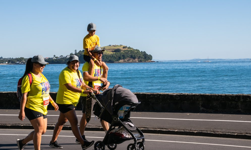 Try and get outside and stay active with your family_Round the bays.