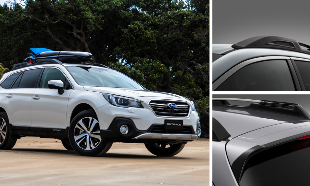 Subaru Outback has integrated roof rails and racks so it is ready for any adventure.
