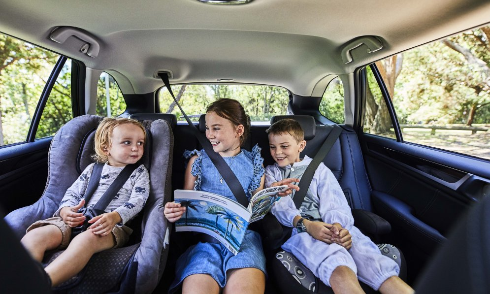 Take a childrens storybook and go adventuring in the family friendly Subaru Outback..