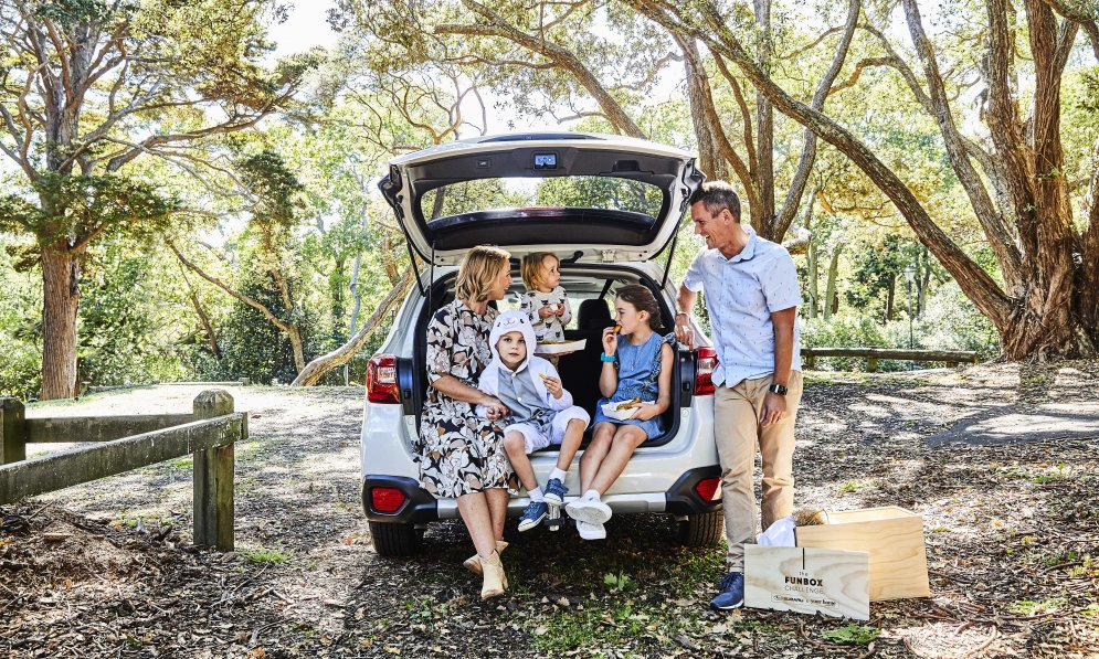 The Subaru Outback is perfect for family adventures with plenty of space for everyone.