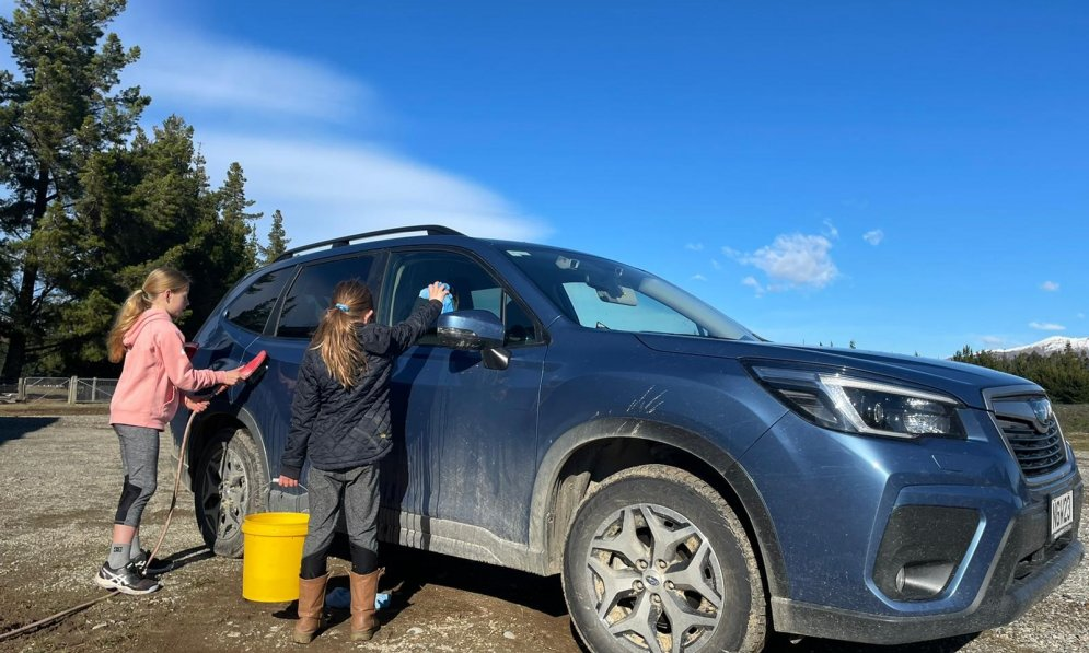 Subaru car cleaning hack: start at the top and work your way down