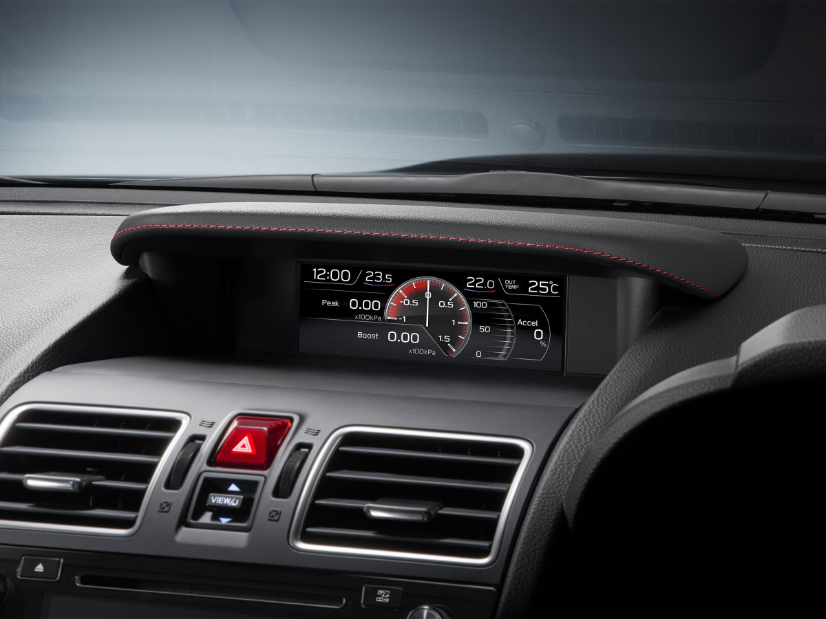 2018 sti multi function display