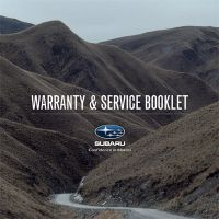 Subaru warranty booklet